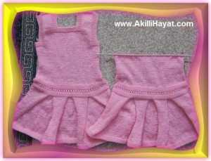 KEMERLİ Kız Bebek Elbisesi Yapılışı