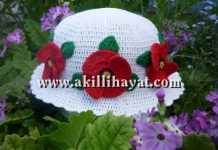 Gelincik çiçekli şapka modeli yapılışı