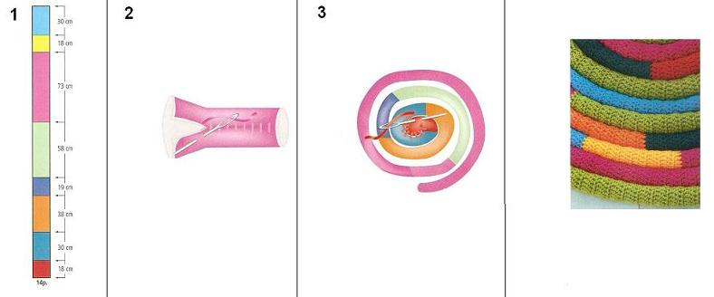 Artan iplerden çocuk odaları için dekoratif örgü halı nasıl yapılır ?