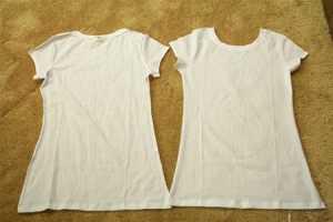T-shirt Yenileme - fırfırlı tişört yapılışı