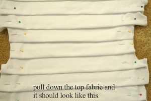 T-shirt Yenileme - Kumaştan tişört fırfırların yapılışı