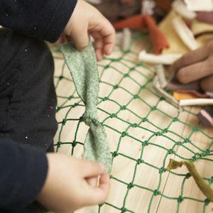 Geri Dönüşüm Projesi -- Artık kumaşlardan kilim yapılışı ve aşamaları