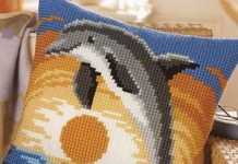 Yunus figürü işlemeli Goblen işi yastık modeli