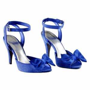 2011 H&M Ayakkabı Modelleri - H&M fiyonklu gece mavisi açık ayakkabı modeli