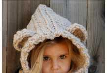 Çocuklar için ayıcık figürlü örgü boyunluklu bere modelleri