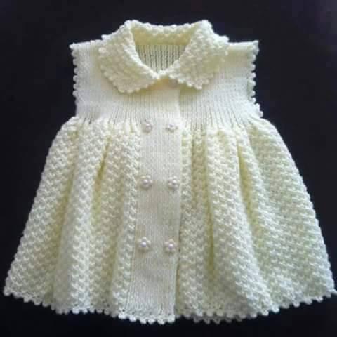 Örgü Bebek Elbisesi Modelleri
