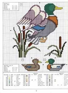 Ördek figürlü kanaviçe şemaları