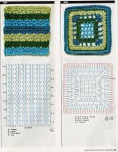 Örgü kare motif şemaları