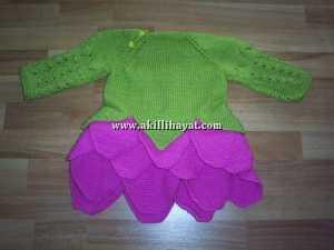 Kat kat etekli lahana bebek elbisesi modeli nasıl örülür ?