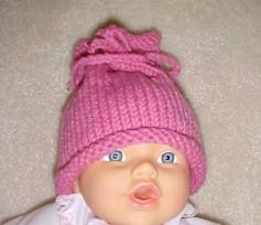 Tepeden büzdürmeli ponponlu bebek beresi modeli yapılışı (anlatımlı)