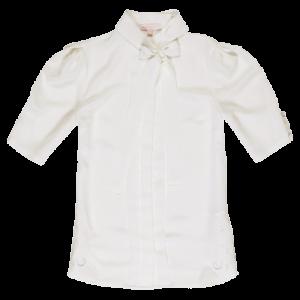 Koton 2011 İlkbahar - Yaz Koleksiyonu - Karpuz kollu hakim yaka beyaz gömlek modeli