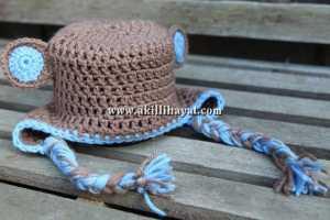 kulaklı çocuk şapkası modeli