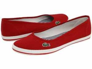 Lacoste kırmızı renk babet ayakkabı modelleri