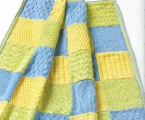kolay şiş örgü bebek battaniyesi modeli yapılışı