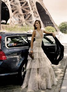 2011 Mezuniyet Kıyafetleri Modası - 2011 İspanyol tarzı katkat uzun etekli abiye modeli