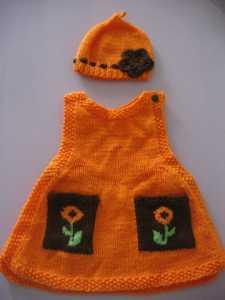 CEPLİ VE BEBEKLİ örgü bebek elbisesi yapılışı