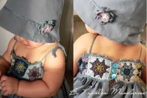 Bebekler İçin Motif Örgüden Yazlık Elbise Modelleri
