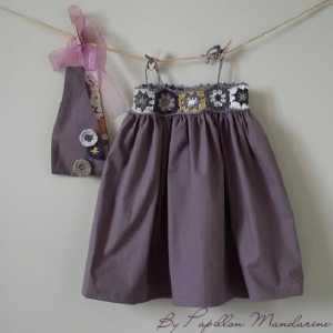 Bebekler İçin Örgü MotiftenYazlık Elbise Modelleri