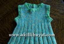 kız cocuklarına örgü elbise modeli ve anlatımı