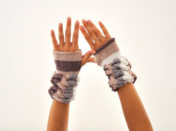 örgü desenli örgü eldiven modelleri