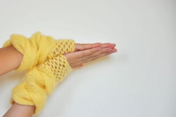 parmaksız örgü eldiven modelleri