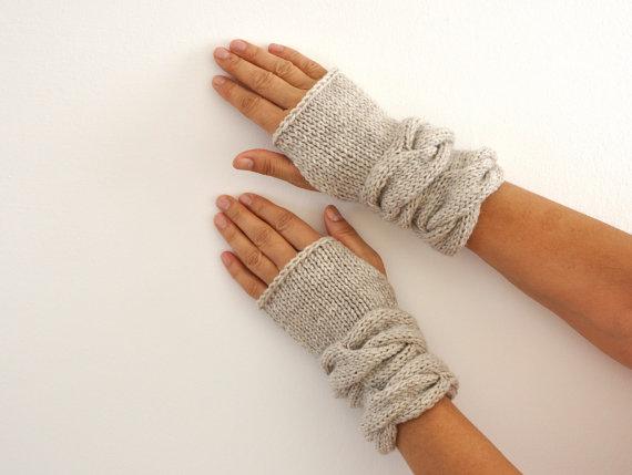 kolay örgü eldiven modelleri