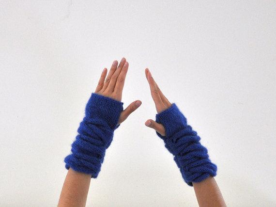Uzun örgü eldiven modelleri