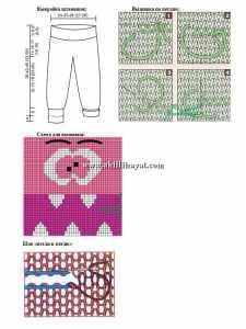İnsan yüzü motifli örgü bebek pantolon örneklerinin yapılışı