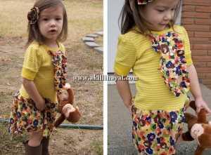fırfırlı çocuk elbisesi