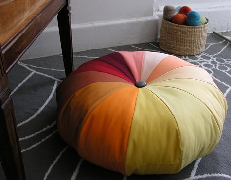 patchwork puf modeli yapılışı
