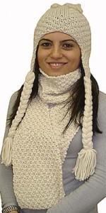 Pirinç örgü bayan atkısı ve kulaklı bayan beresi modeli yapılışı (anlatımlı)