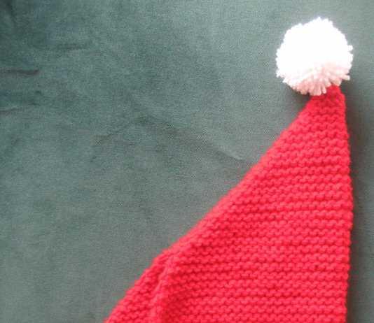 Örgü ponponlu yeni yıl şapkası yapılışı