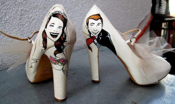 Sıradışı Yüksek Topuklu Tüllü Gelin Ayakkabısı Modelleri