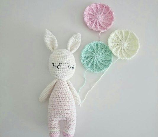 Amigurumi örgü oyuncak uyuyan tavşancık modeli yapılışı anlatımlı