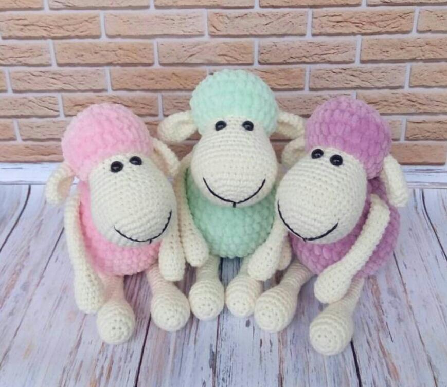 Amigurumi Koyun Shaun Tarifi | Amigurumi, Bebek çıngırağı, Bebek koyun | 753x869