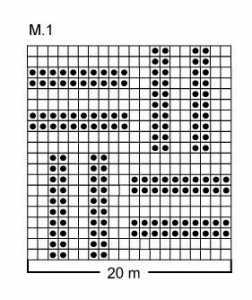 düz ve ters örgü ile örülmüş değişik bir örgü atkı modeli yapılışı anlatımlı şeması
