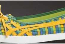 2011 Tiger Onitsuka sarı çizgili babet modeli