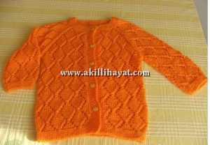 Baklava desenli mor çocuk ceketi modeli yapılışı (anlatımlı)