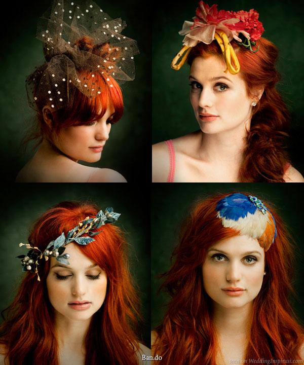 Hürrem Sultan tarçın bakırı saç rengi için saç aksesuarları modelleri