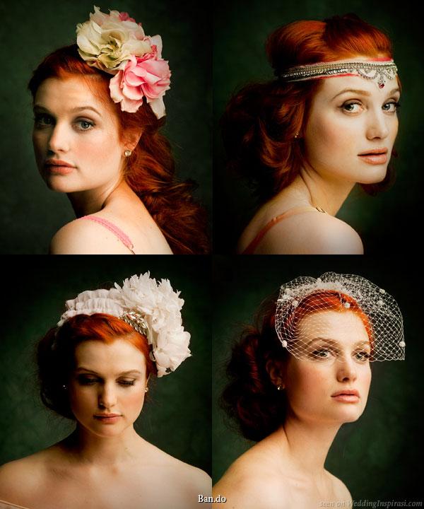 Abiye saç aksesuarları modelleri - Gelinler için saç tacı modelleri