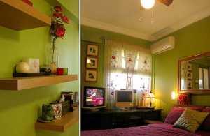 Ev Dekorasyonunda yeşil renginin kullanılması gereken mekanlar