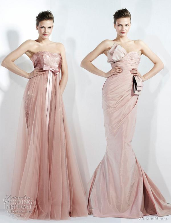 2011 - 2012 Zuhair Murad Koleksiyonu - Gül kurusu kemerli nişanlık modelleri