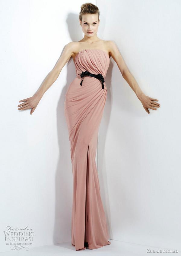 2011 - 2012 Zuhair Murad Koleksiyonu - Vücudu saran pembe abiye modelleri