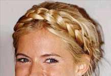 2011 Örgülü Saç Modası- Dağınık sarı saçlar için örgü modelleri