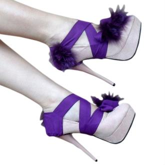 Turuncu Renk Kurdelelli Platform Topuklu Ayakkabı Modelleri