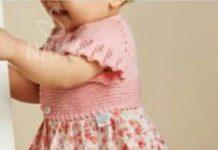 Bebekler için kiloş etekli örgü bebek elbiseai modeli yapılışı anlatımlı