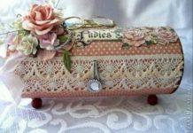 Cips kutuau ile dekoratif kutu yapılışı resimli anlatımlı