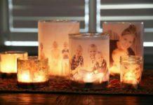 Cam kavanozlarla ışıklı resim çerçevesi yapılışı anlatımlı