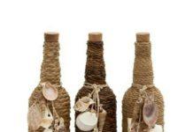 Hasır iple örülmüş dekoratif şişe modelleri evde el yapımı sosluk ve yağdanlık modelleri yapılışı anlatımlı