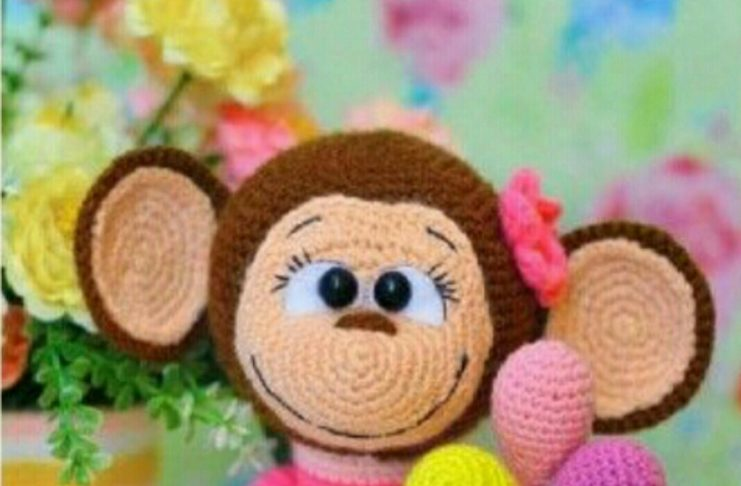 Perde Tutucu Amigurumi Maymun Yapılışı | Maymunlar, Amigurumi, Perde | 486x741